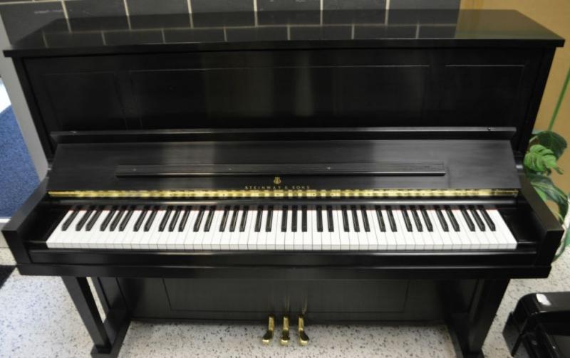 Steinway Model 1908 Upright Piano - Ebony Satin