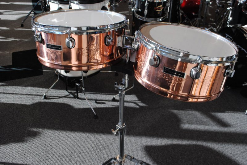 Trixon Timbale Set in Copper