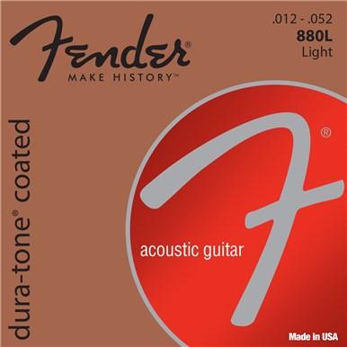 Fender 80/20 COATED ACOUSTIC GUITAR STRINGS - .012-.052