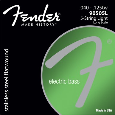 Fender 9050 STAINLESS FLATWOUND BASS STRINGS (5-STRING) - .040-.125
