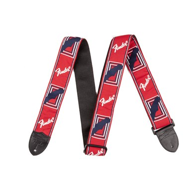 Fender?? 2 Inch Monogrammed Guitar Strap - Red/White/Blue