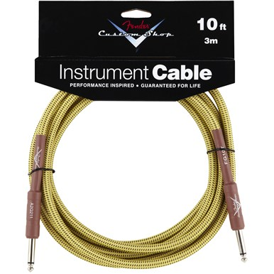 FENDER?? 10 ft CUSTOM SHOP CABLES (STRAIGHT-STRAIGHT ANGLE) - Tweed