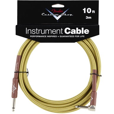 FENDER?? CUSTOM SHOP CABLE (STRAIGHT-RIGHT ANGLE) - Tweed - 10 ft