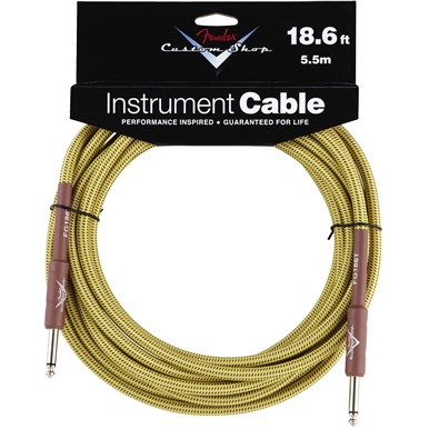FENDER?? 18.6 ft CUSTOM SHOP CABLES (STRAIGHT-STRAIGHT ANGLE) - Tweed