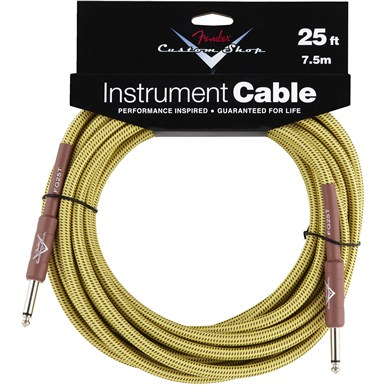 FENDER?? 25 ft CUSTOM SHOP CABLES (STRAIGHT-STRAIGHT ANGLE) - Tweed