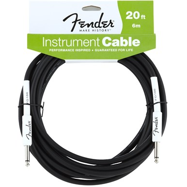 FENDER?? 20 ft PERFORMANCE SERIES INSTRUMENT CABLE (STRAIGHT-STRAIGHT)