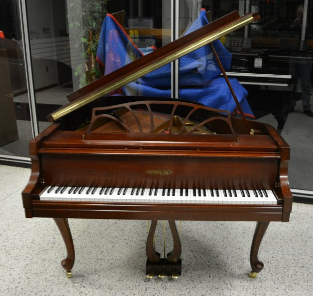 Chickering Baby Grand Piano - Cherry Satin
