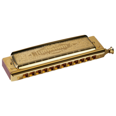 Hohner Chromatic Harmonica Super Chromonica Gold w/ retail box package