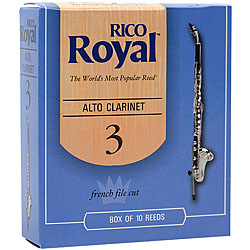 Rico Royal Alto Clarinet Reeds - Box of 10