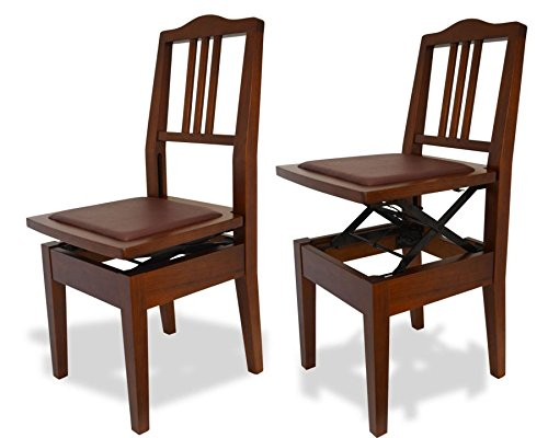Frederick Adjustable Piano Chair - Walnut Satin