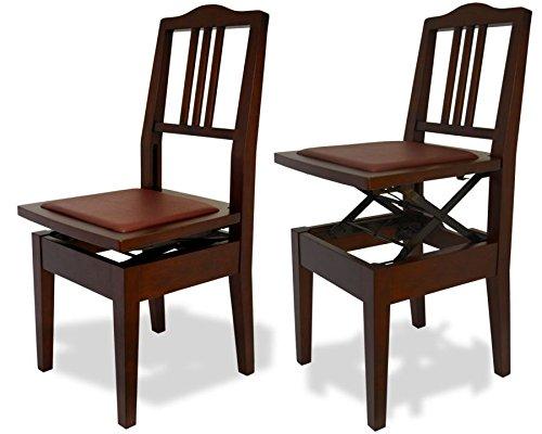 Frederick Adjustable Piano Chair - Mahogany Satin