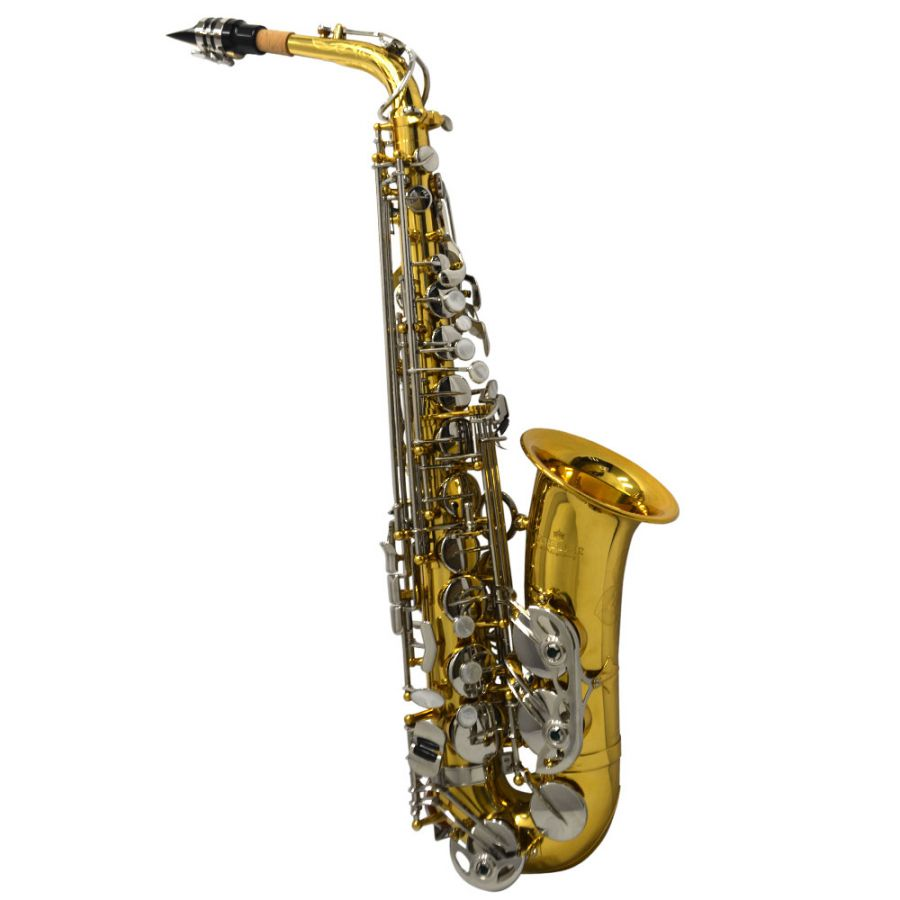 Schiller American Heritage 400 Alto Saxophone - Nickel Silver and Gold