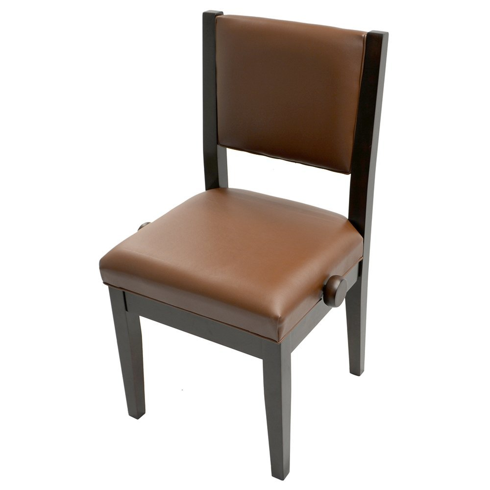 Frederick Studio Padded Adjustable Piano Chair - Walnut Satin
