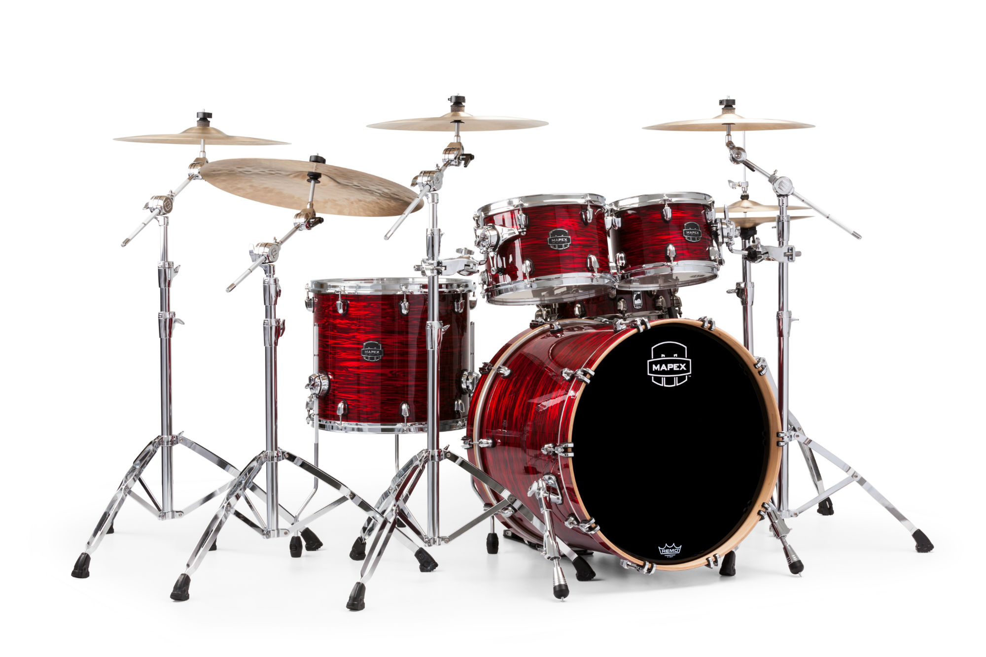Mapex Saturn V MH Rock 4-piece shell pack with SONIClear Edge - SV529XUPC - Red Strata Pearl