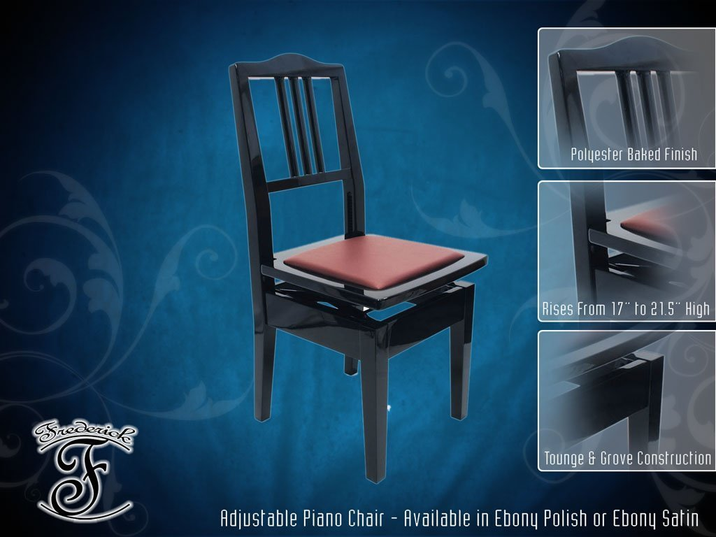 Frederick Piano Chair - Ebony Satin