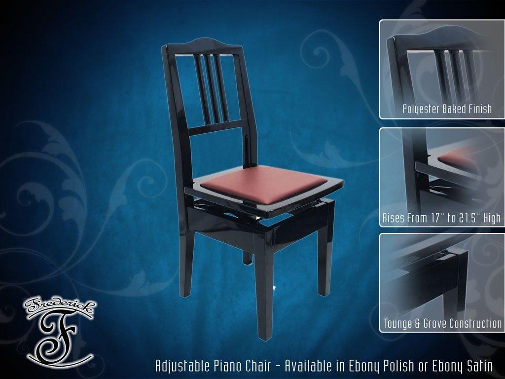 Frederick Piano Chair - Ebony Polish