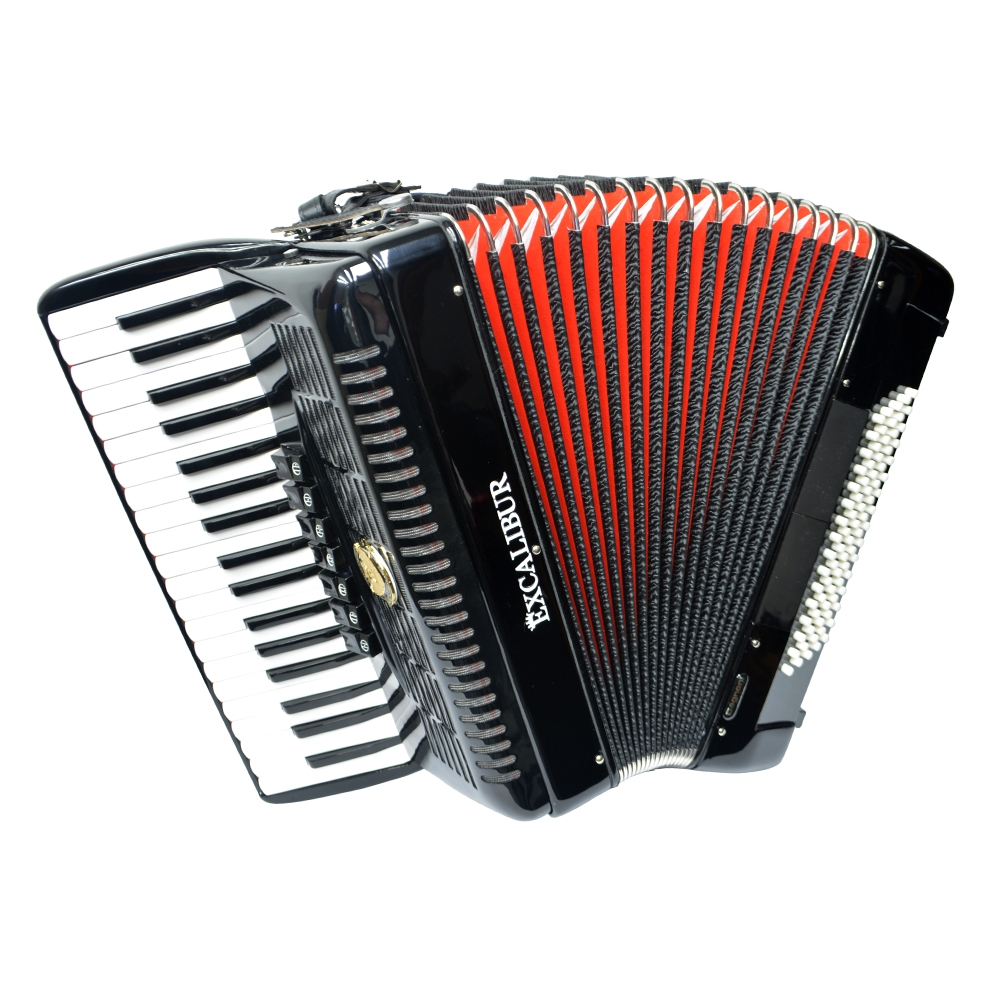 Excalibur German Weltbesten UltraLite 80 Bass Piano Accordion - Black