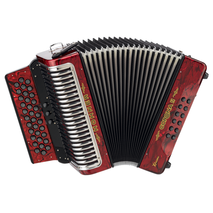 Hohner Corona II T XTREME  3 Switch ADG, Pearl Red