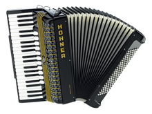 Hohner Atlantic IV 120 P, black, with Palm Switch