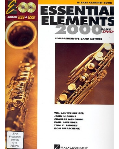 Essential Elements 2000 Bass Clarinet Book CD/DVD