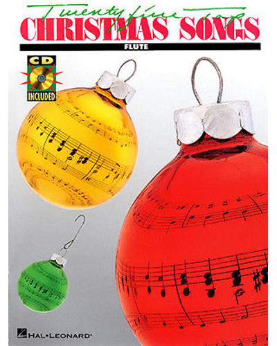 Twenty Five Top Christmas Songs Book and CD for Flute