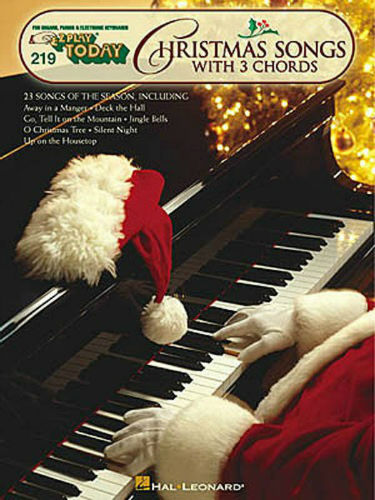 EZ Play Today Christmas Songs with 3 Chords for Piano Keyboard and Organ