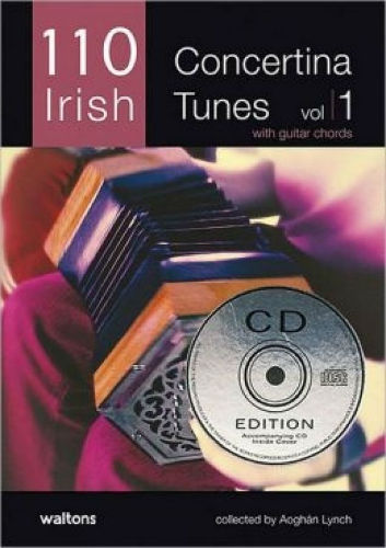 110 Irish Concertina Tunes Volume 1 Book and CD