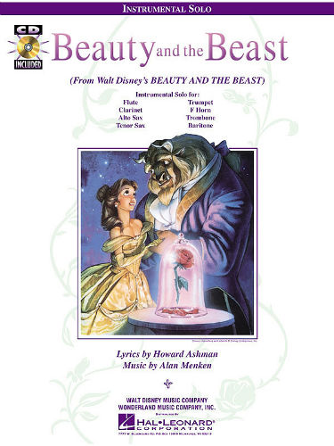 Beauty and the Beast Instrumental Solo Book and CD for Flute Clarinet and Sax