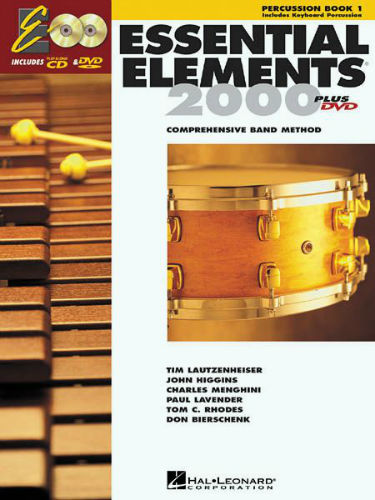 Essential Elements 2000 Book and CD/DVD for Percussion