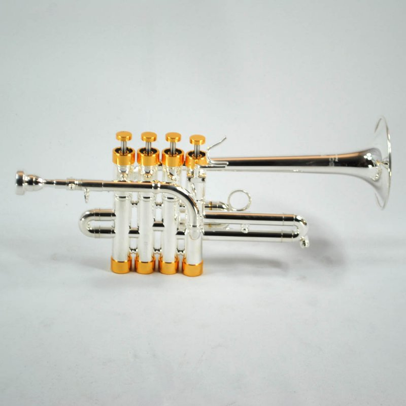 Schiller CenterTone Piccolo Trumpet – Silver & Gold