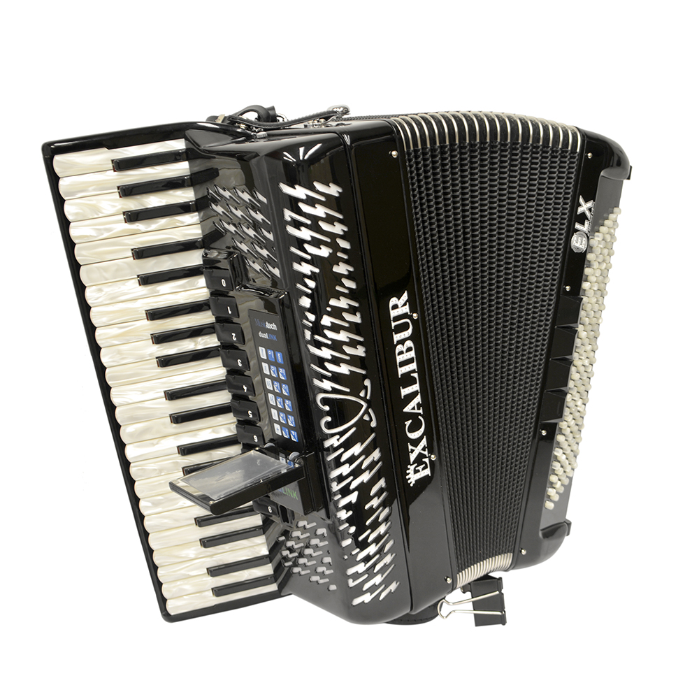 Excalibur EXL Real Digital Accordion 120 Bass - Ebony Polish