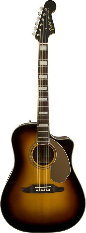 Fender Kingman ASCE Dreadnought Cutaway Acoustic Electric Guitar with Case