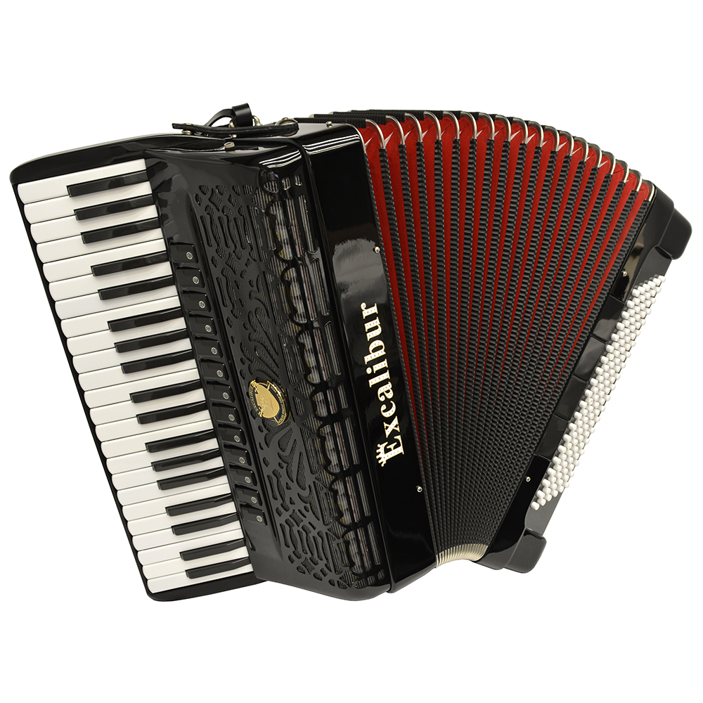 Excalibur Professionale Crown 120 Bass 13 Switch Piano Accordion -Ebony Polish