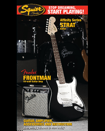 Fender® Squier® Stop Dreaming, Start Playing!™ Set: Afffinity Series™ Strat® with Fender Frontman® 10G AMP Black
