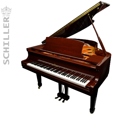 Schiller Performance Berlin Grand Piano - Walnut Polish