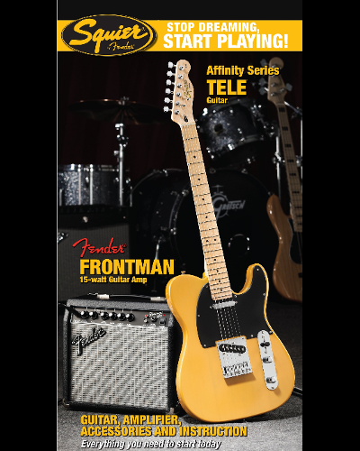 Fender® Squier® Stop Dreaming, Start Playing!™ Set: Affinity Series™ Tele® with Fender Frontman® 15G Amp Butterscotch Blonde