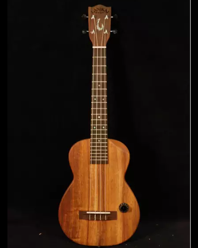 Lanikai Hawaiian MAKAPU'U Solid Koa Top Chambered Acoustic Electric Tenor Ukulele