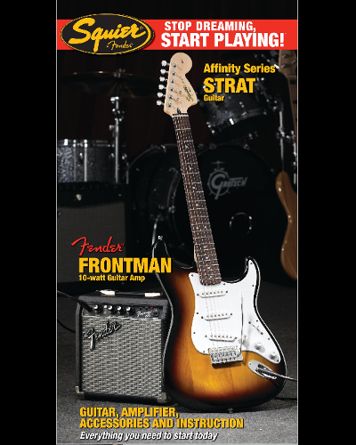 Fender® Squier® Stop Dreaming, Start Playing!™ Set: Afffinity Series™ Strat® with Fender Frontman® 10G AMP Brown Sunburst