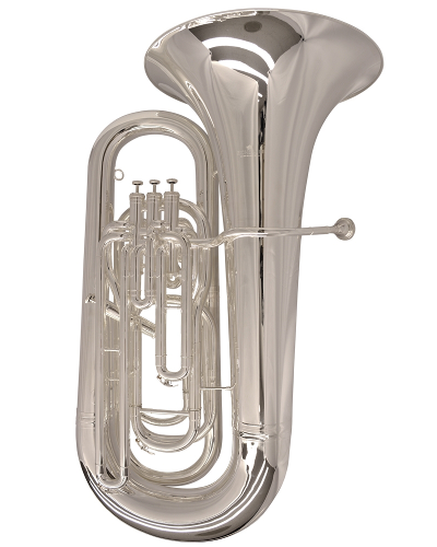 Schiller Elite Compensating Tuba BBb - Silver Plated