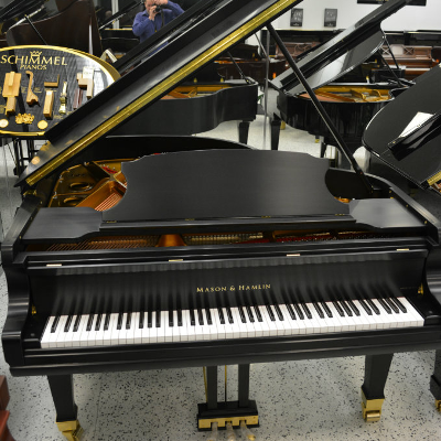Mason & Hamlin Model B Grand Piano - Ebony Satin