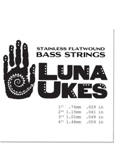 Luna Uke Baritone Strings Flatwound