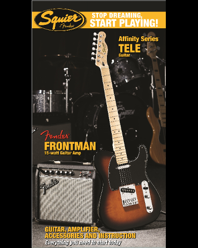 Fender® Squier® Stop Dreaming, Start Playing!™ Set: Affinity Series™ Tele® with Fender Frontman® 15G Amp Brown Sunburst