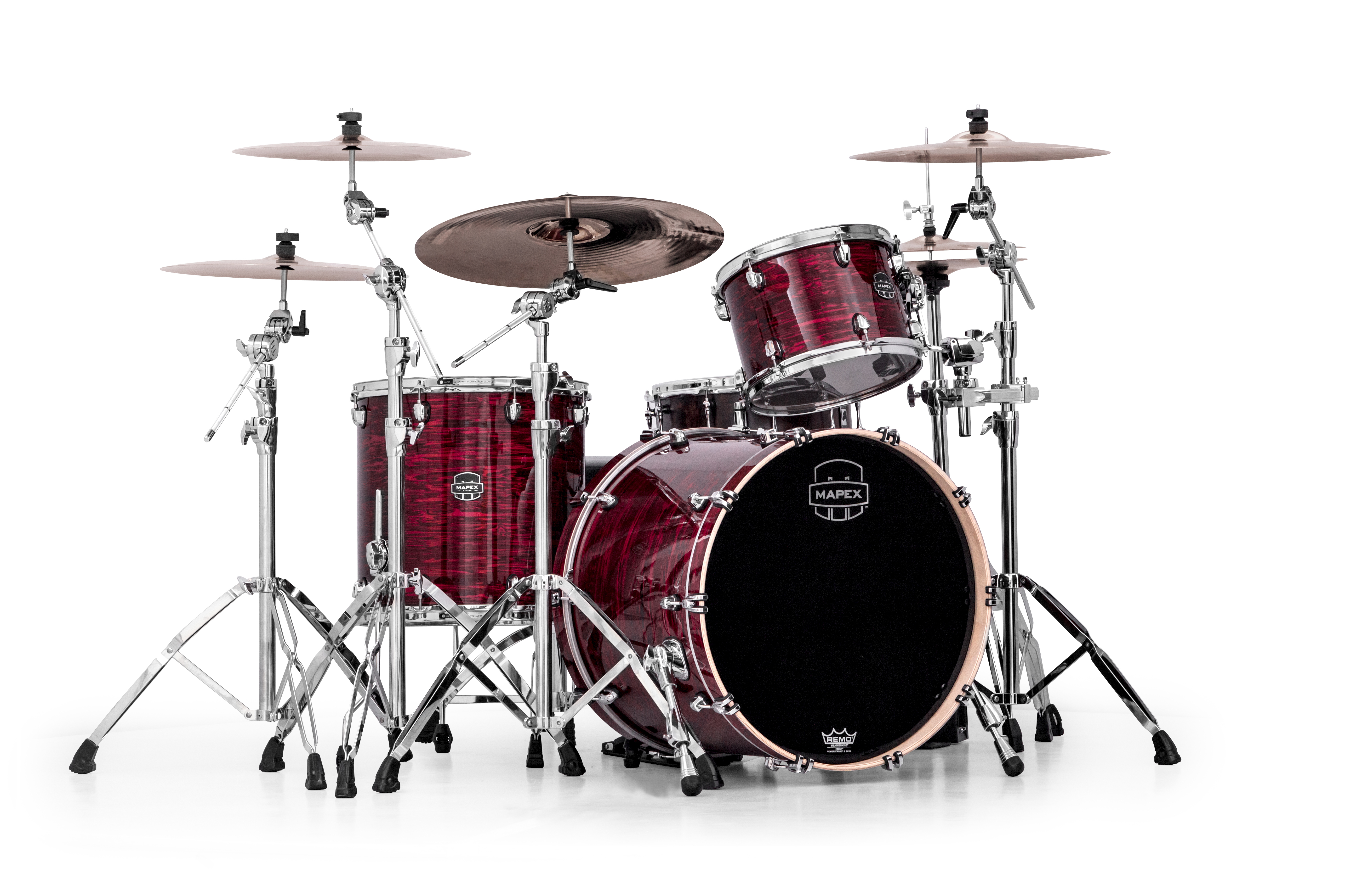Mapex Saturn V MH Rock 3-piece shell pack with SONIClear Edge - SV426XPC - Red Strata Pearl