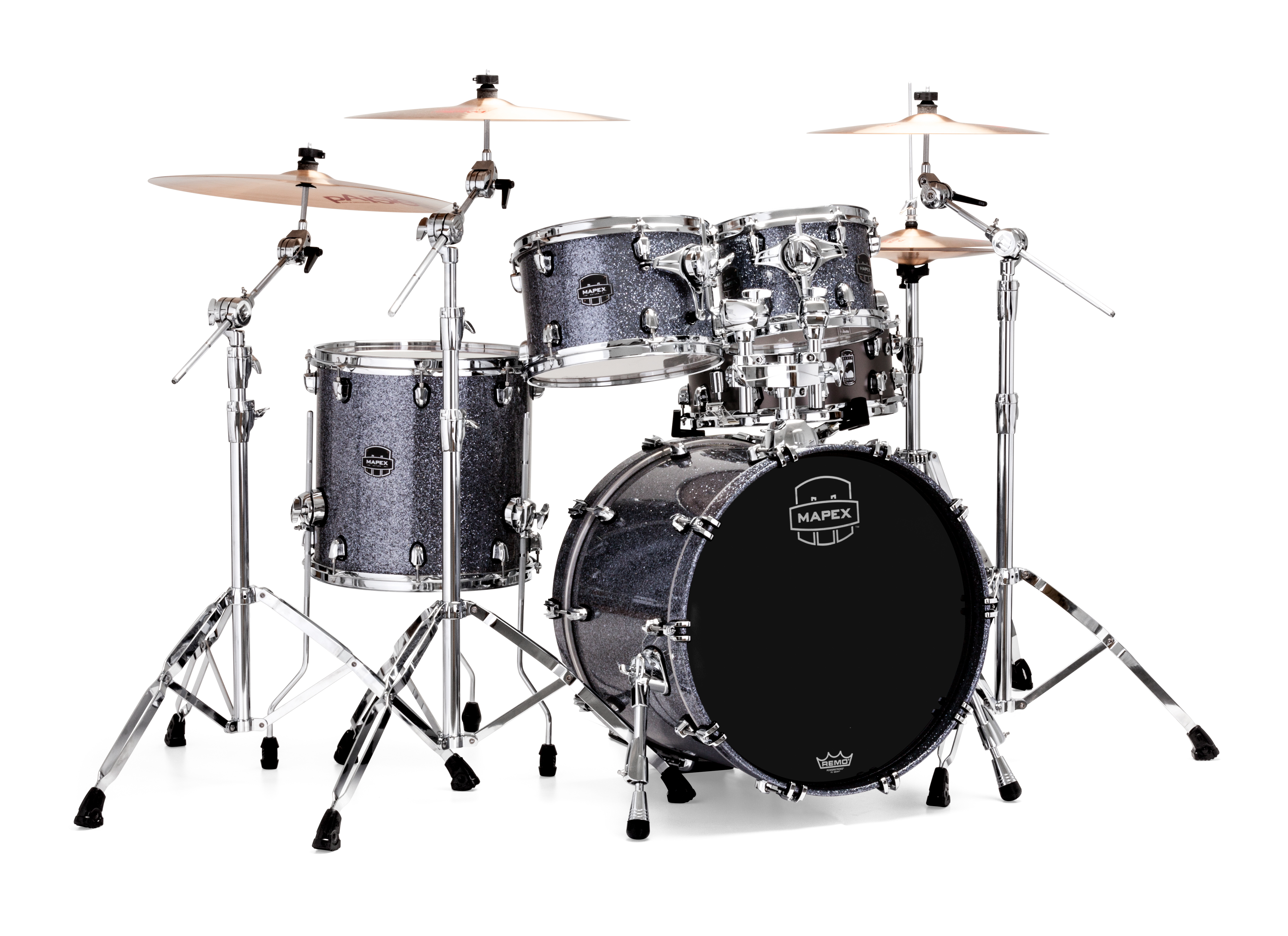 Mapex Saturn V MH Fusion 4-piece shell pack with SONIClear Edge - SV504XQL - Granite Sparkle