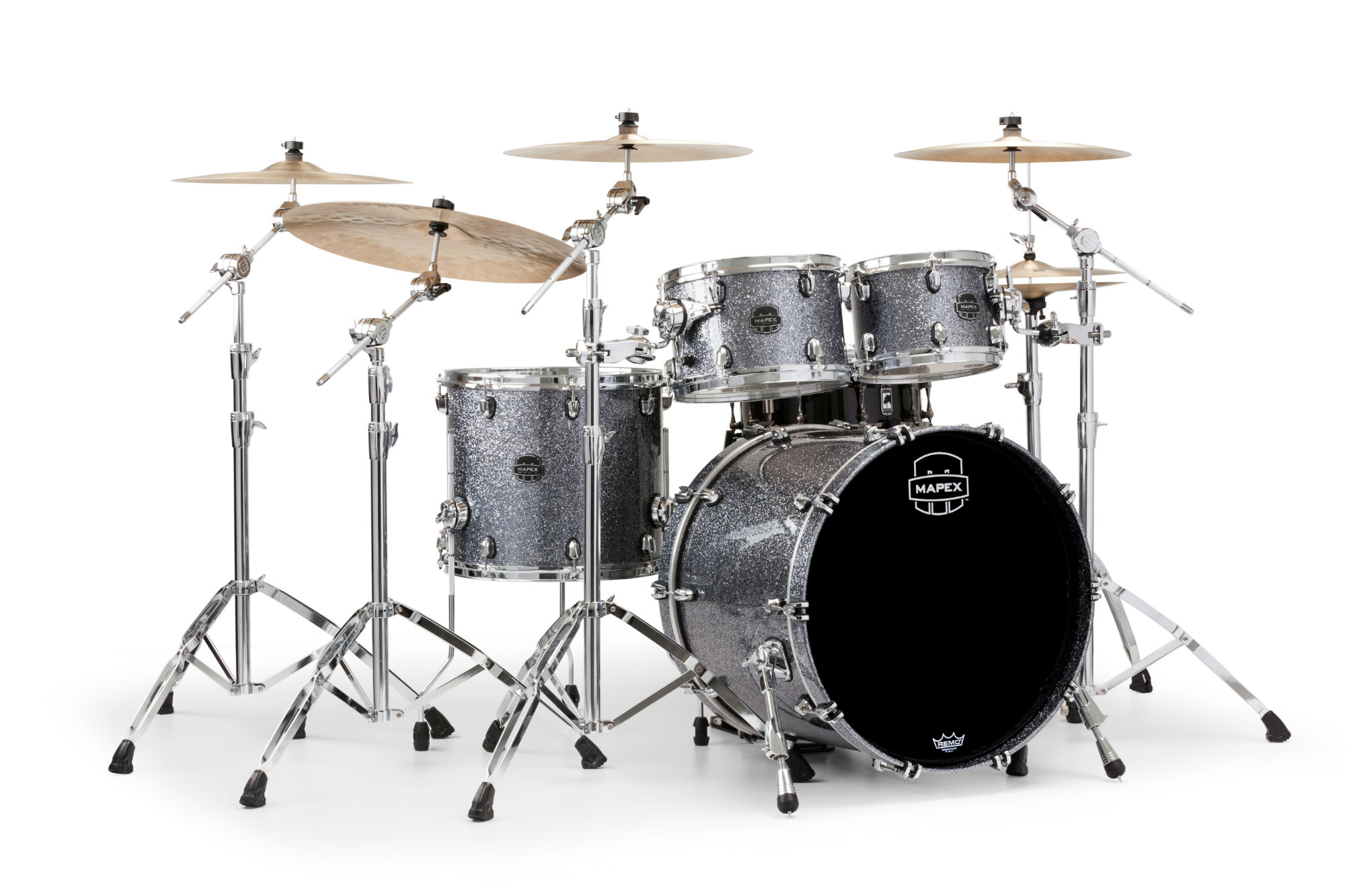 Mapex Saturn V MH Rock 4-piece shell pack with SONIClear Edge - SV529XUQL - Granite Sparkle