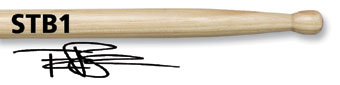 Vic Firth Terry Bozzio (STB1) Wood Tip Drumstick