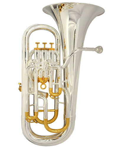Schiller Custom Shop Elite IV Compensating Euphonium - Silver & Gold