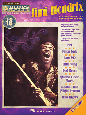 Jimi Hendrix - Blues Play-Along Volume 18 - Blues Play-Along Series