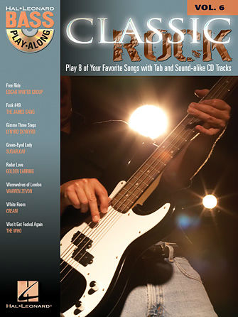 Classic Rock - Bass Play-Along Volume 6 Book and CD