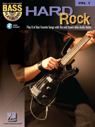 Hard Rock - Bass Play-Along Volume 7 Book and CD